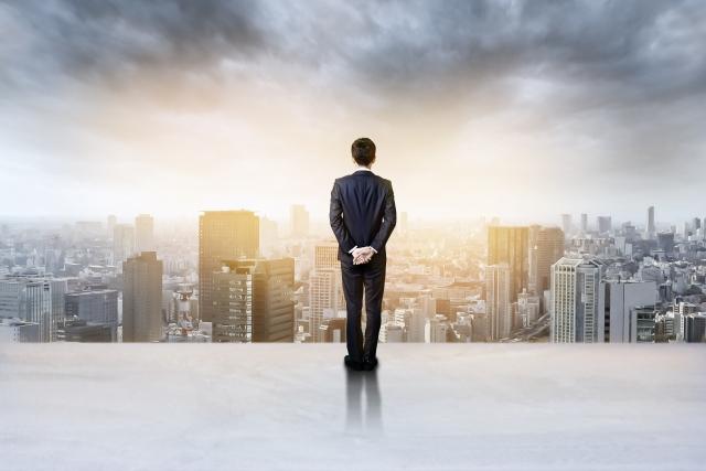 大都会を眺める投資家・起